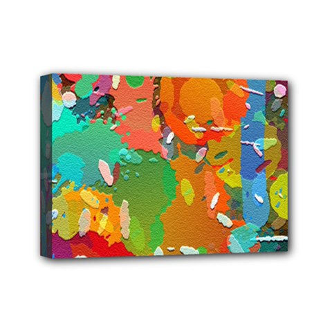 Background Colorful Abstract Mini Canvas 7  X 5