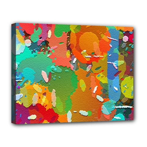 Background Colorful Abstract Canvas 14  X 11