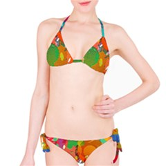 Background Colorful Abstract Bikini Set