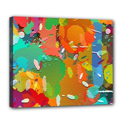 Background Colorful Abstract Deluxe Canvas 24  X 20