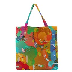 Background Colorful Abstract Grocery Tote Bag