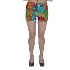Background Colorful Abstract Skinny Shorts
