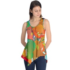 Background Colorful Abstract Sleeveless Tunic