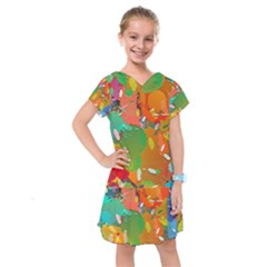 Background Colorful Abstract Kids  Drop Waist Dress