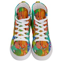 Background Colorful Abstract Men s Hi Top Skate Sneakers