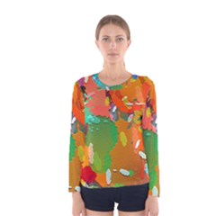 Background Colorful Abstract Women s Long Sleeve Tee