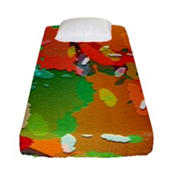 Background Colorful Abstract Fitted Sheet (single Size)