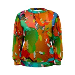 Background Colorful Abstract Women s Sweatshirt