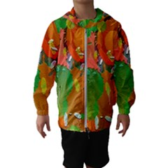 Background Colorful Abstract Hooded Wind Breaker (kids)