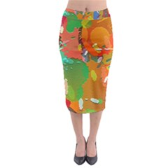 Background Colorful Abstract Midi Pencil Skirt