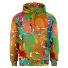 Background Colorful Abstract Men s Overhead Hoodie