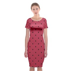 Watermelon Minimal Pattern Classic Short Sleeve Midi Dress