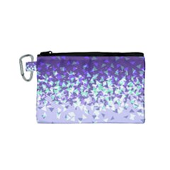 Purple Disintegrate Canvas Cosmetic Bag (small) by jumpercat