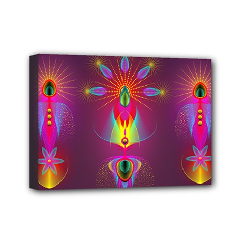 Abstract Bright Colorful Background Mini Canvas 7  X 5