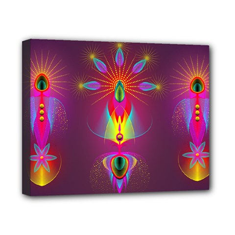 Abstract Bright Colorful Background Canvas 10  X 8