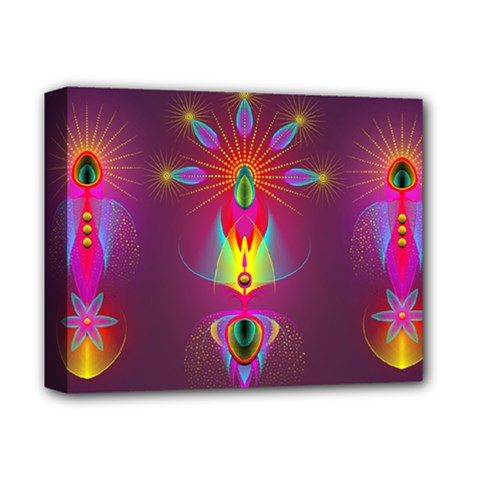 Abstract Bright Colorful Background Deluxe Canvas 14  X 11  by Nexatart