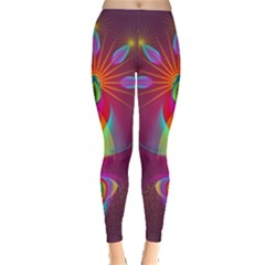 Abstract Bright Colorful Background Leggings