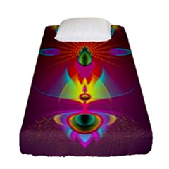Abstract Bright Colorful Background Fitted Sheet (single Size)