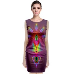 Abstract Bright Colorful Background Classic Sleeveless Midi Dress