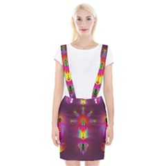 Abstract Bright Colorful Background Braces Suspender Skirt