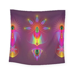 Abstract Bright Colorful Background Square Tapestry (small)