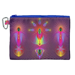Abstract Bright Colorful Background Canvas Cosmetic Bag (xl)