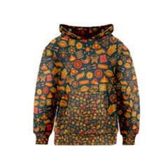Pattern Background Ethnic Tribal Kids  Pullover Hoodie