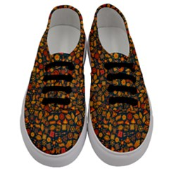 Pattern Background Ethnic Tribal Men s Classic Low Top Sneakers