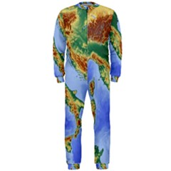 Italy Alpine Alpine Region Map Onepiece Jumpsuit (men)