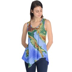 Italy Alpine Alpine Region Map Sleeveless Tunic