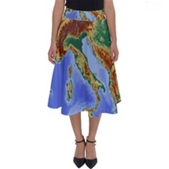 Italy Alpine Alpine Region Map Perfect Length Midi Skirt