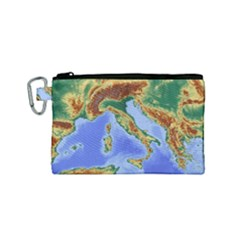 Italy Alpine Alpine Region Map Canvas Cosmetic Bag (small) by Nexatart