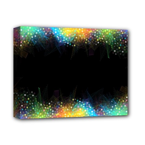 Frame Border Feathery Blurs Design Deluxe Canvas 14  X 11