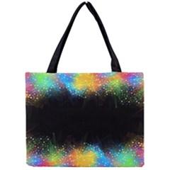 Frame Border Feathery Blurs Design Mini Tote Bag