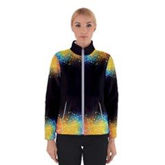 Frame Border Feathery Blurs Design Winterwear