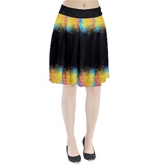 Frame Border Feathery Blurs Design Pleated Skirt