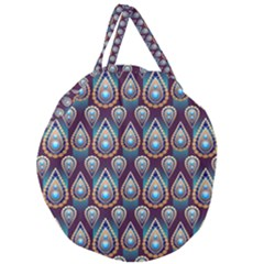 Seamless Pattern Pattern Giant Round Zipper Tote