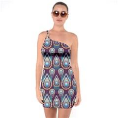 Seamless Pattern Pattern One Soulder Bodycon Dress