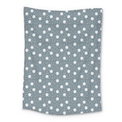 Floral Dots Blue Medium Tapestry by snowwhitegirl