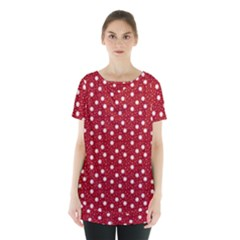 Floral Dots Red Skirt Hem Sports Top by snowwhitegirl