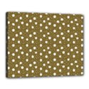 Floral Dots Brown Canvas 20  x 16  View1