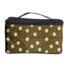 Floral Dots Brown Cosmetic Storage Case