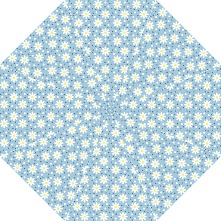 Daisy Dots Light Blue Straight Umbrellas