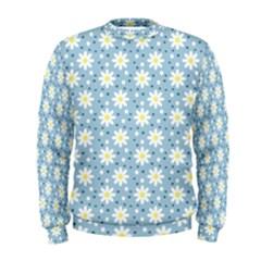 Daisy Dots Light Blue Men s Sweatshirt