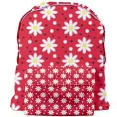 Daisy Dots Red Giant Full Print Backpack by snowwhitegirl