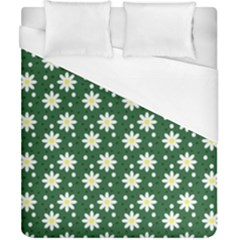 Daisy Dots Green Duvet Cover (california King Size) by snowwhitegirl