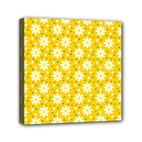Daisy Dots Yellow Canvas Travel Bag by snowwhitegirl