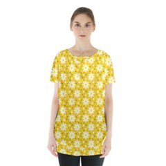 Daisy Dots Yellow Skirt Hem Sports Top by snowwhitegirl