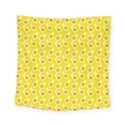 Square Flowers Yellow Square Tapestry (Small) View1