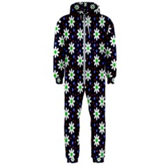 Daisy Dots Navy Blue Hooded Jumpsuit (men)  by snowwhitegirl